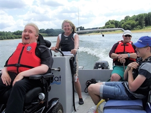 Fun day on the water for Duchenne Family Support Group